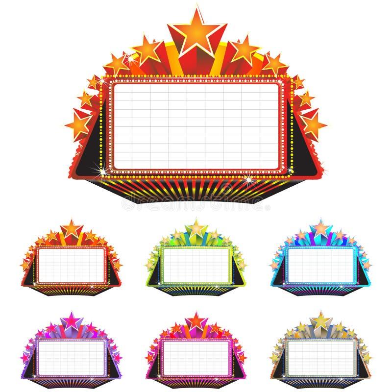 大门罩符号剧院 向量例证