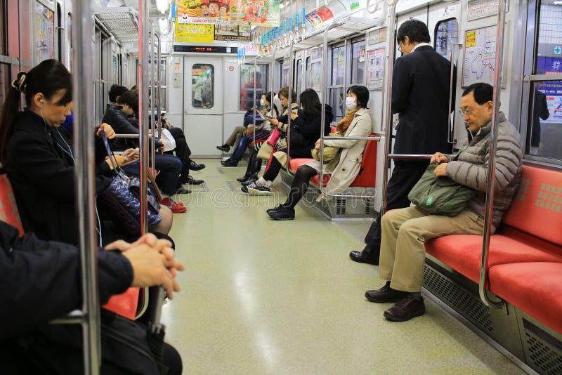 大阪地铁的乘客 库存图片