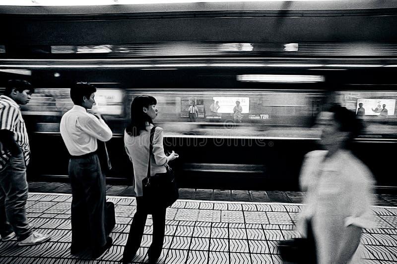大阪地铁站 免版税库存照片