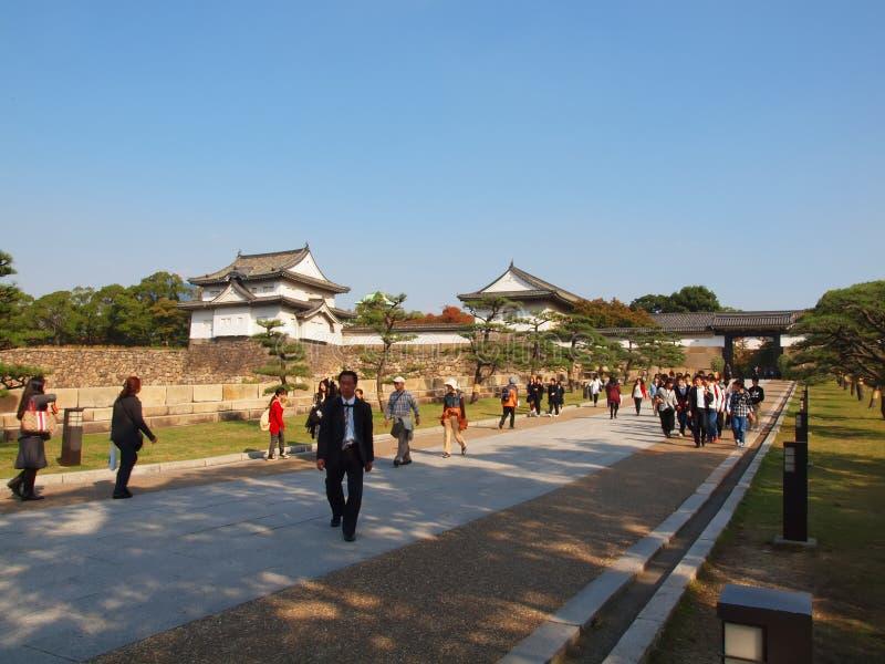 大阪城堡入口 免版税库存图片