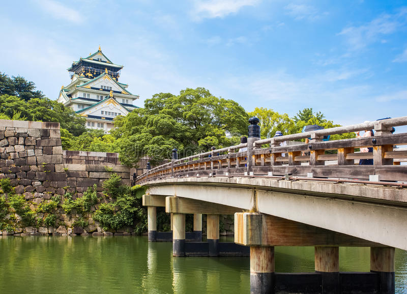 大阪城堡在大阪 库存照片