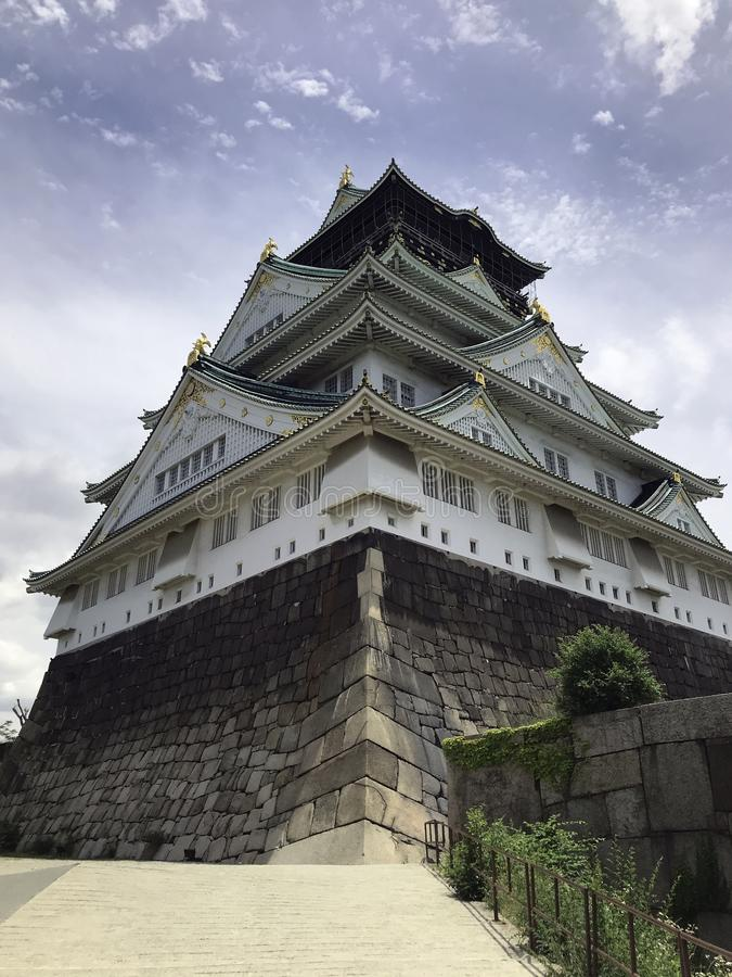 大阪城堡在日本 图库摄影