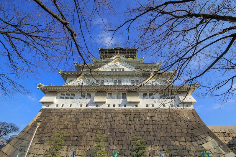 大阪城堡,大阪,日本 免版税图库摄影