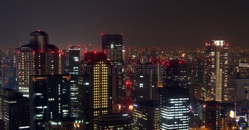 大阪市地平线 免版税库存图片