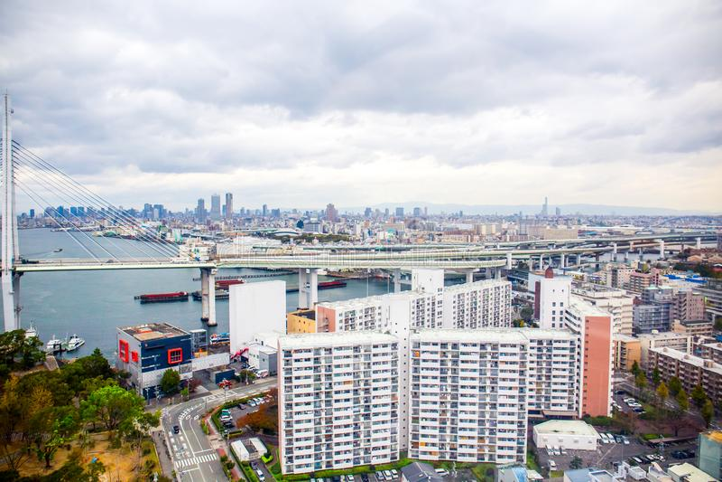 大阪都市风景 图库摄影