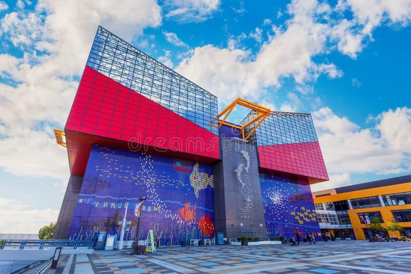 大阪水族馆Kaiyukan在大阪,日本 图库摄影