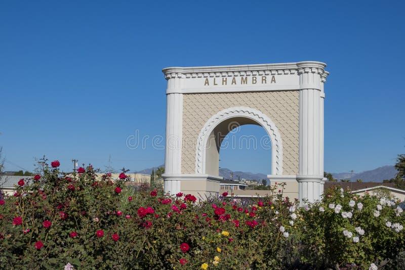 大阿尔罕布拉宫标志 库存图片