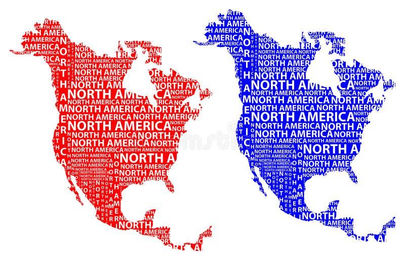 大陆北美地图-传染媒介例证.图片