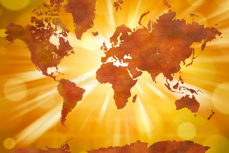 大陆映射世界 向量例证