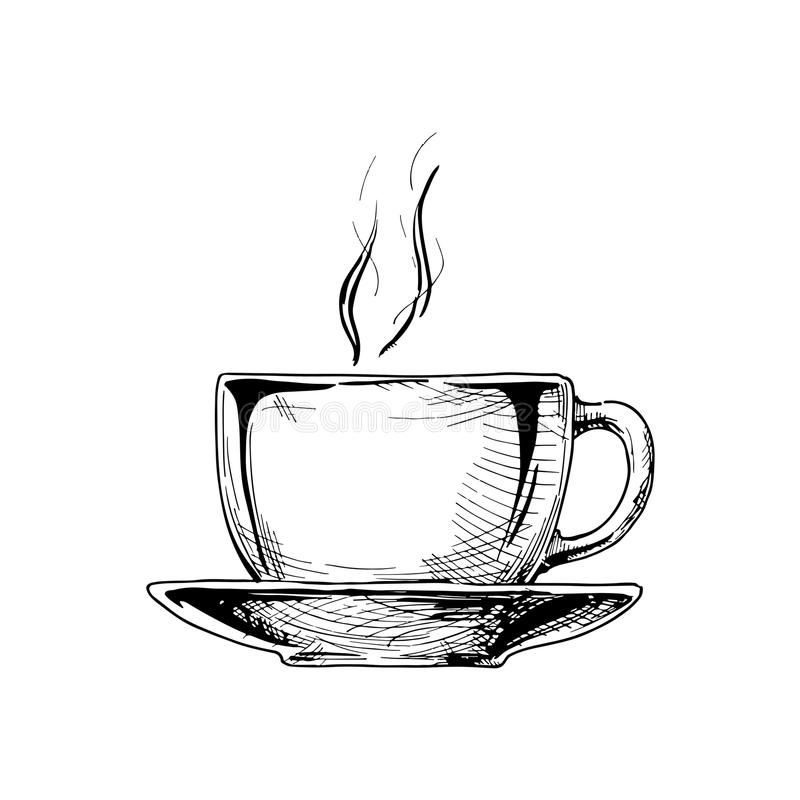 大陶瓷杯子 向量例证