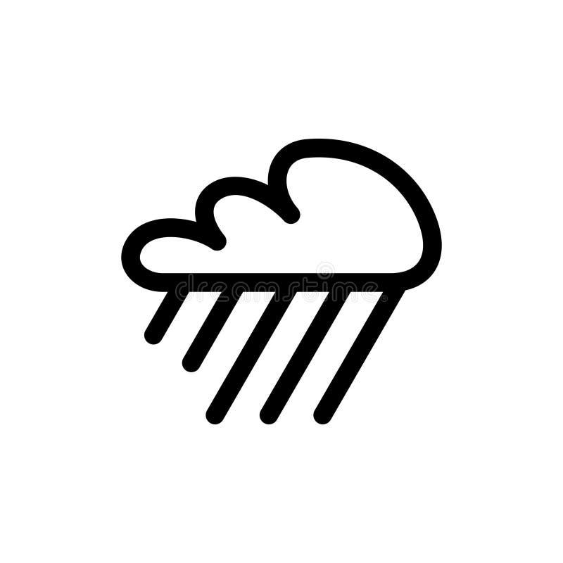 大雨天气象 皇族释放例证