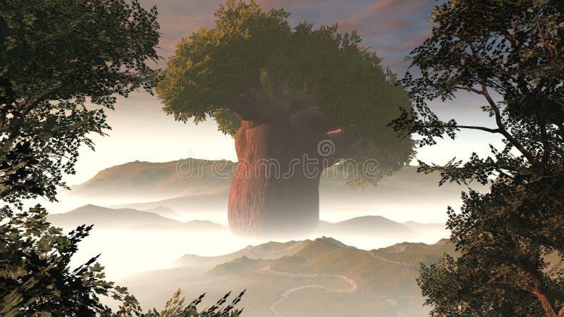 大雾结构树 库存例证