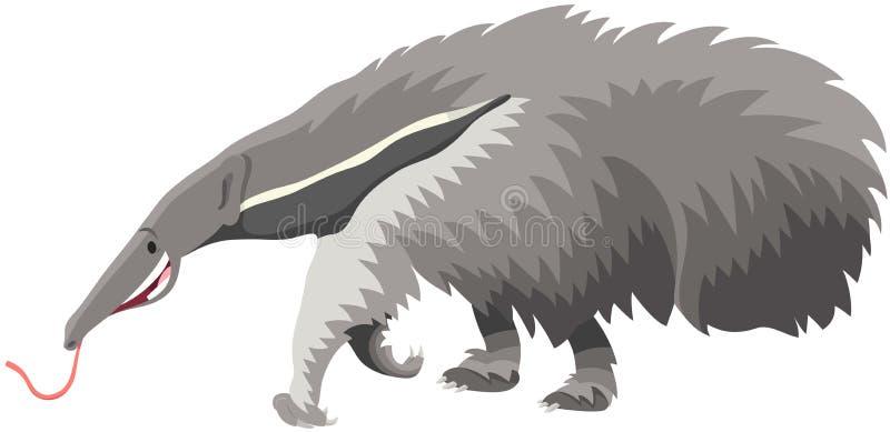 大食蚁兽动物动画片例证 皇族释放例证