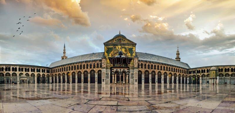大马士革伟大的Umayyad清真寺  图库摄影