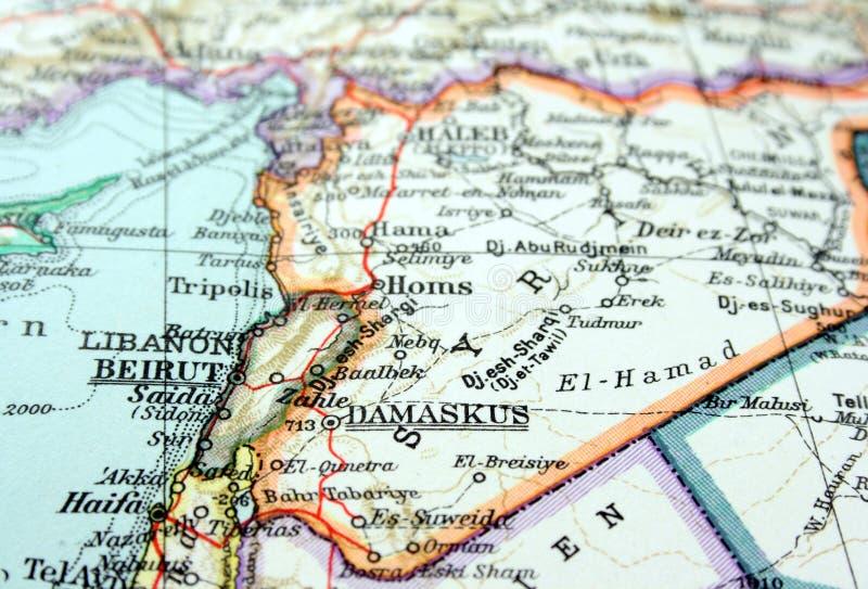 大马士革叙利亚 库存照片