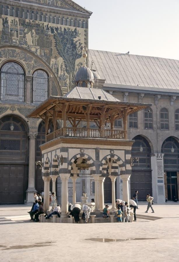 大马士革极大的清真寺  免版税库存图片