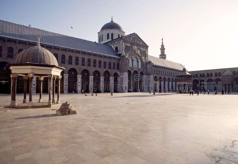 大马士革极大的清真寺  库存照片