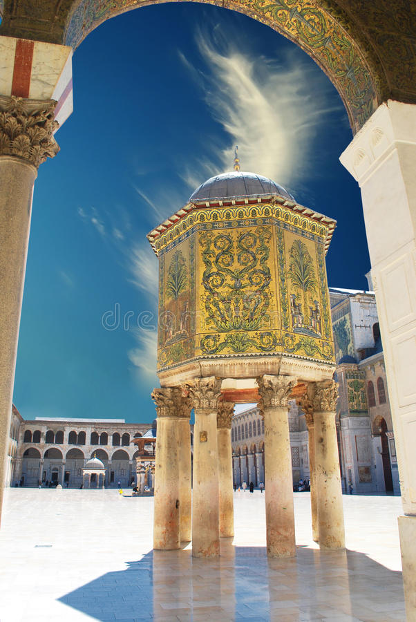 大马士革清真寺 免版税库存图片