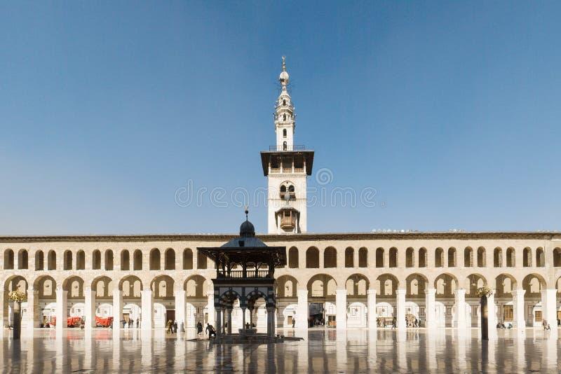 大马士革清真寺umayyad 库存图片