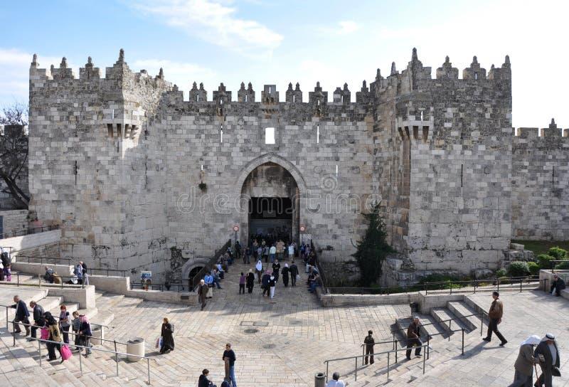 大马士革给耶路撒冷装门 免版税库存图片