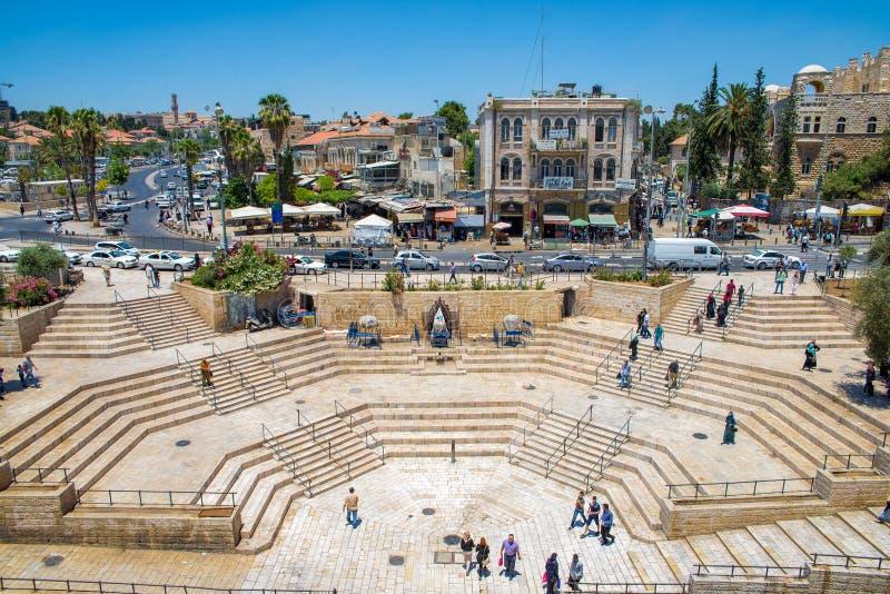 大马士革门在耶路撒冷 库存图片