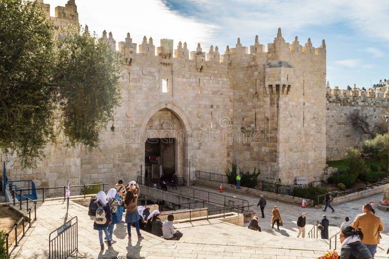 大马士革门耶路撒冷 库存照片