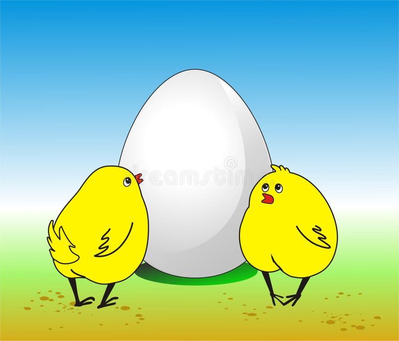 大鸡蛋 免版税图库摄影