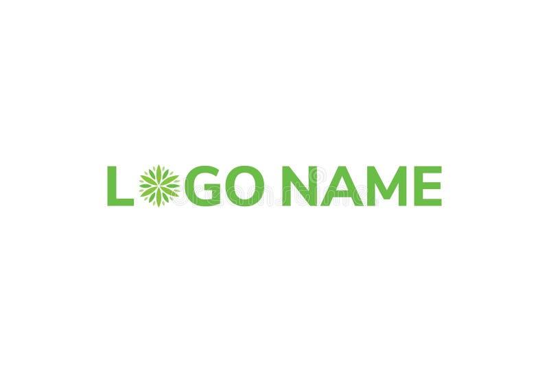 大麻生叶艺术商标设计 皇族释放例证