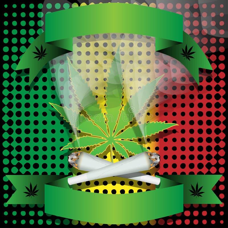大麻联合大麻 向量例证