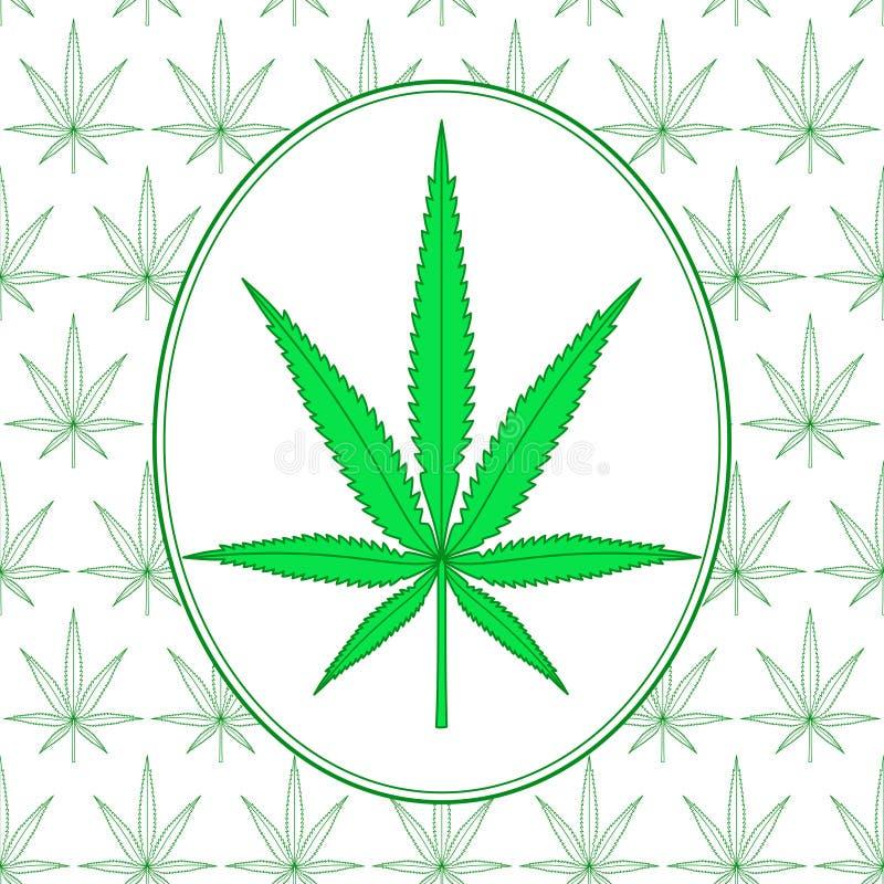大麻叶子例证 皇族释放例证
