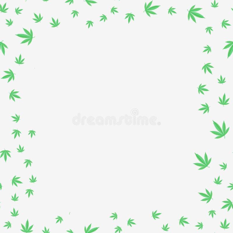 大麻叶子例证 向量例证