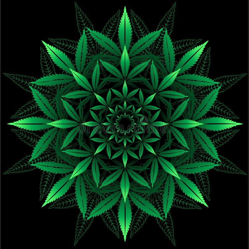 从大麻叶子的圆的样式 皇族释放例证