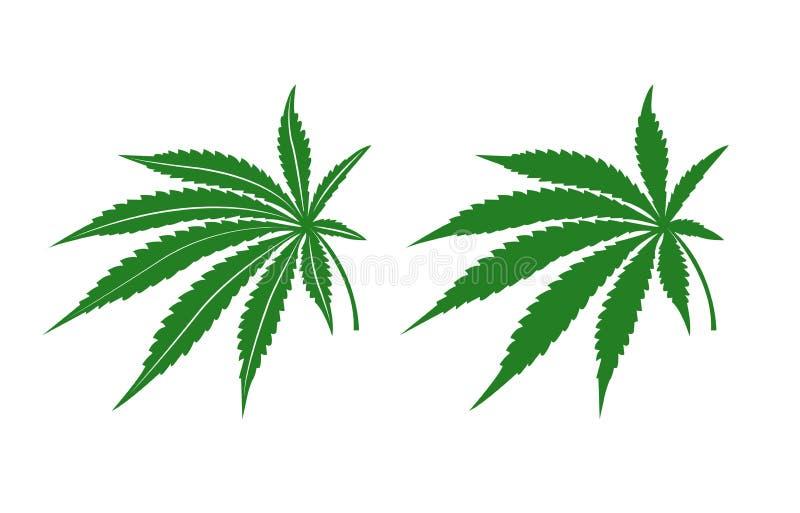 大麻叶子 向量例证