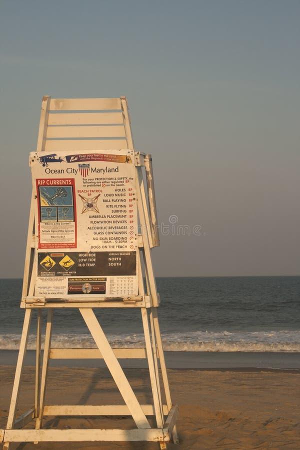 大洋城MD救生员椅子 图库摄影