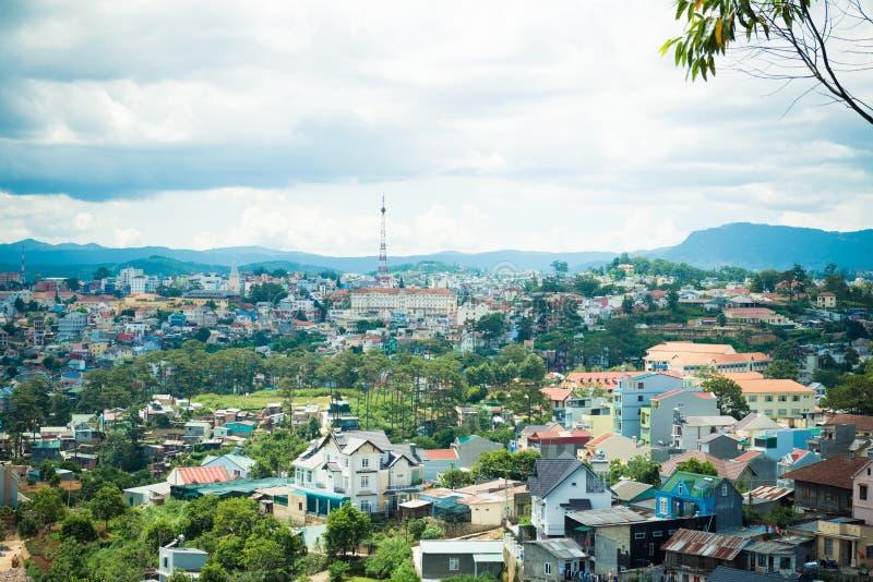 大叻市视图 库存照片