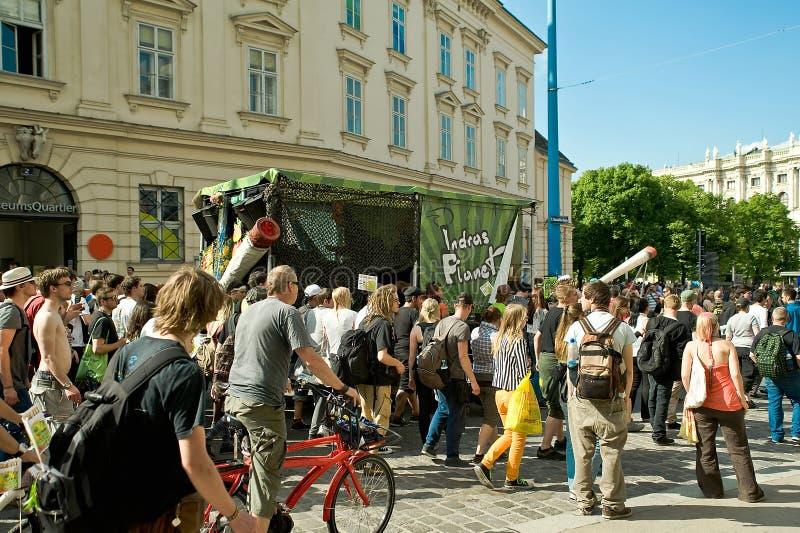 大麻3月在维也纳 库存照片