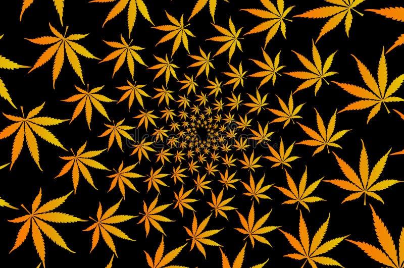 大麻植物背景, 库存例证