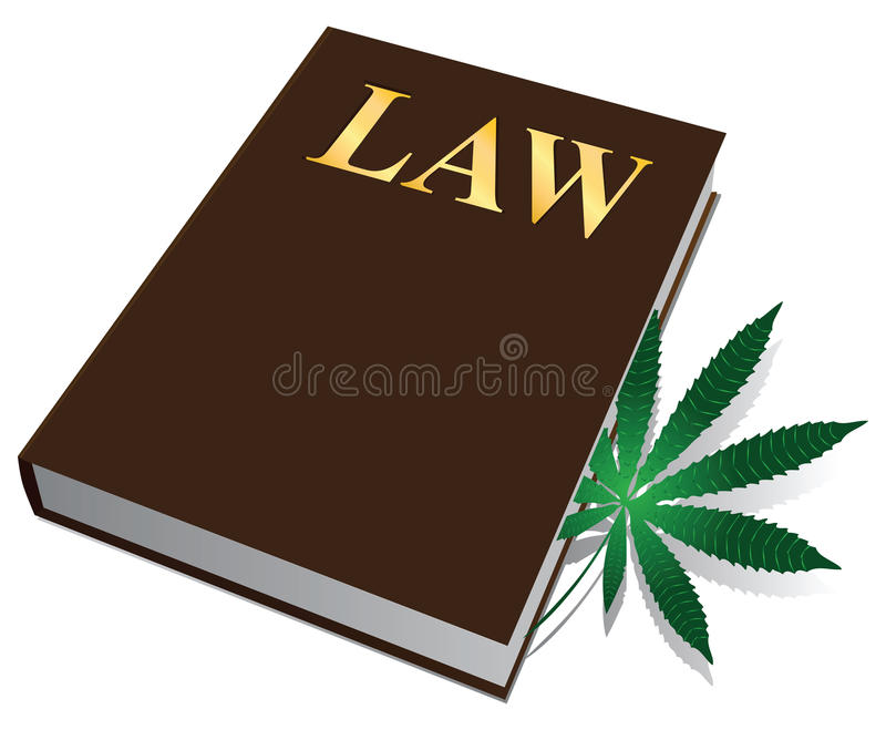 大麻法律 库存例证