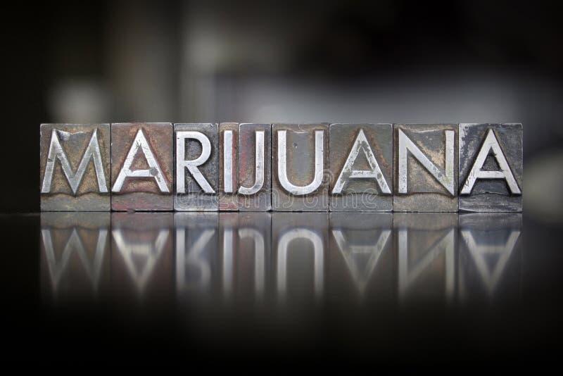 大麻活版 库存图片