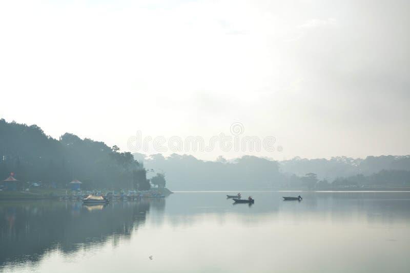 大叻的湖 免版税库存照片