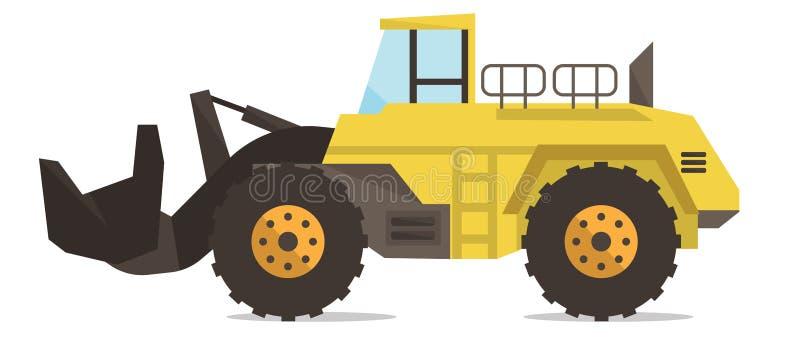 大黄色挖泥机传染媒介例证 皇族释放例证