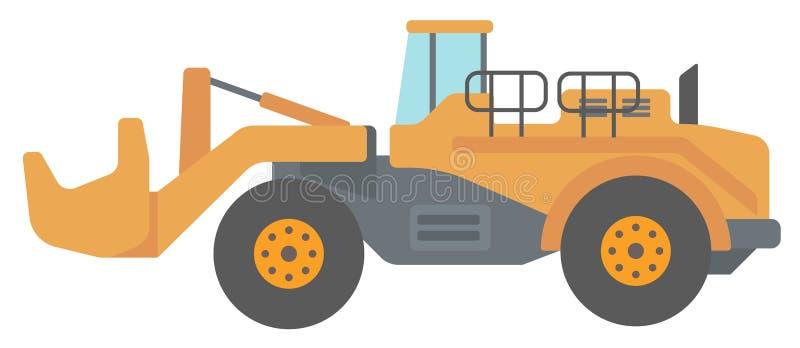 大黄色挖泥机 向量例证