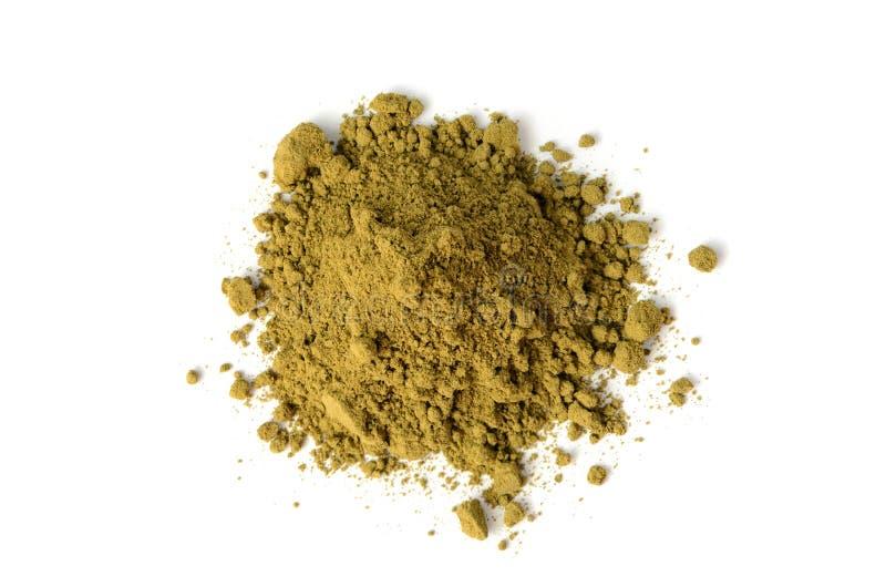 大麻蛋白质粉末 免版税库存图片