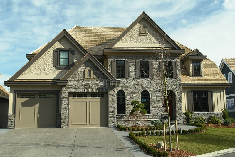 大BC设计家庭房子 免版税库存图片