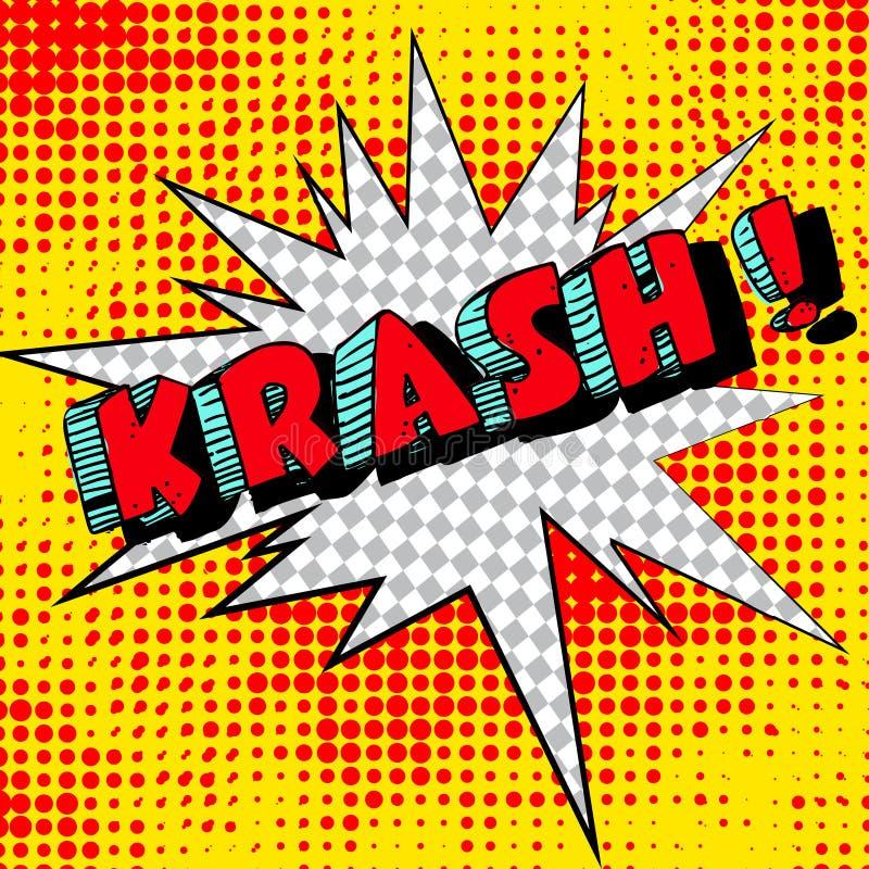 大krash 8另外的书可笑的eps展开格式以图例解释者向量 例证 向量例证