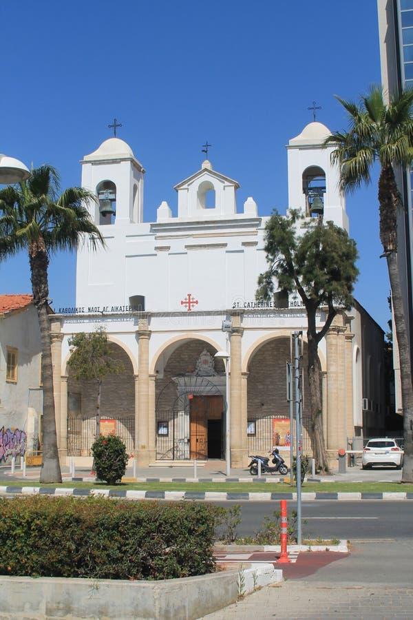 天主教会在利马索尔,塞浦路斯 免版税库存照片
