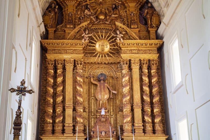 天主教会在果阿旧城 库存图片