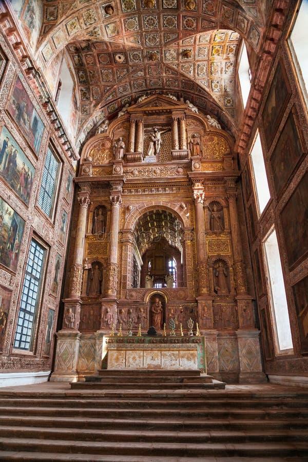 天主教会在果阿旧城 免版税库存图片