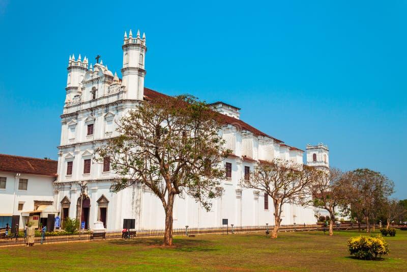 天主教会在果阿旧城 图库摄影