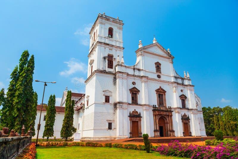 天主教会在果阿旧城 库存照片